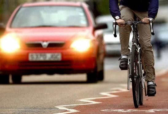 Обгон велосипедиста через сплошную в 2020 году